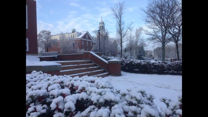 Xavier Hall snow
