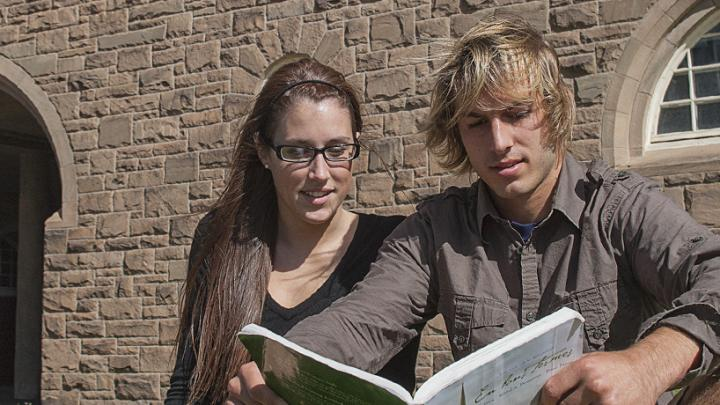 Students on StFX campus